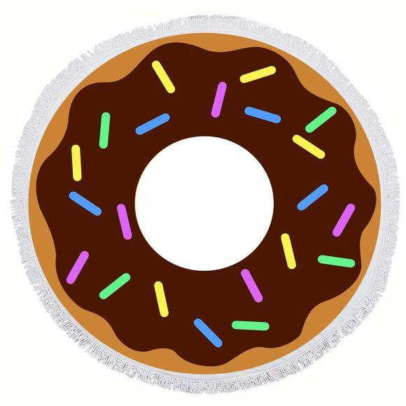 BIG MOUTH -EDC  | Round Towel - Donut