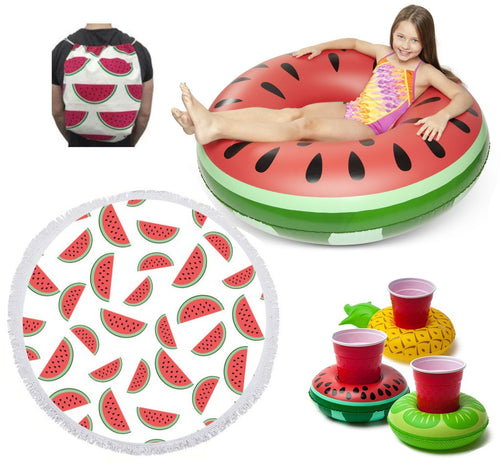 BIG MOUTH - ECD | Inflatable Beach Kit - Watermelon