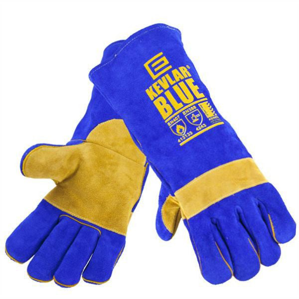 Elliotts BLUE Welding Glove with tough Stitching - Large