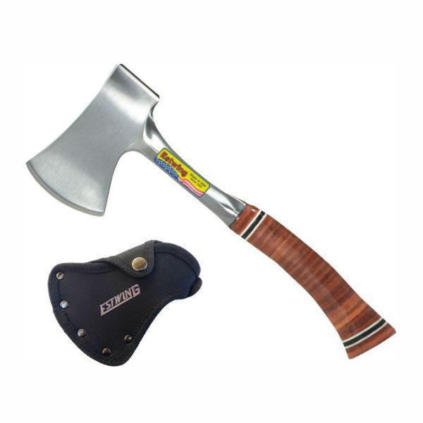 ESTWING | Sportsman Axe with Sheath - Leather Grip - E14A 14oz