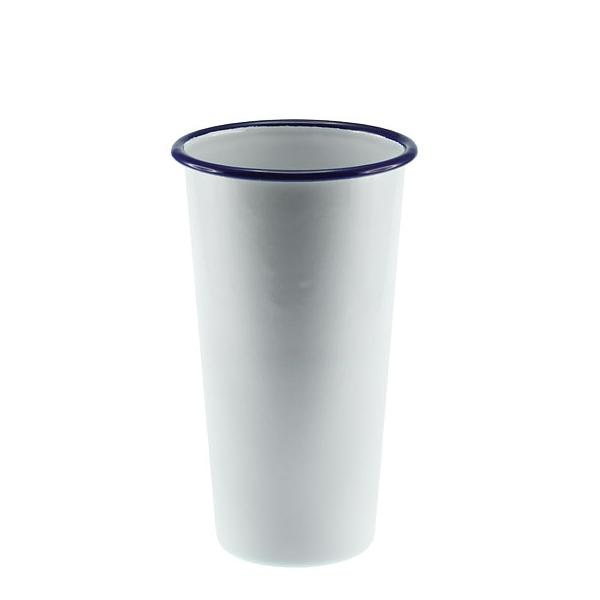 FALCON ENAMEL Jumbo Tumbler 775ml  10cm - White with Blue Rim