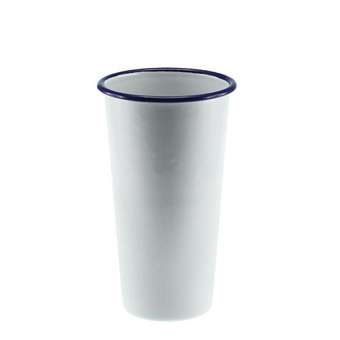 FALCON ENAMELWARE |  Jumbo Tumbler 775ml  10cmØ - White with Blue Rim
