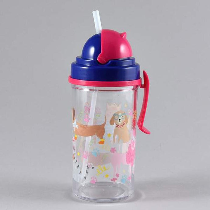 kids pet printed water bottle