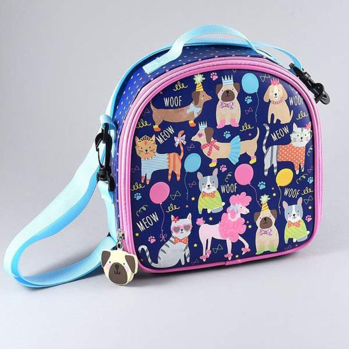 FLOSS & ROCK UK  Insulated Lunch Bag with Detachable Strap & Bottle Holder - Pets **Limited Stock**