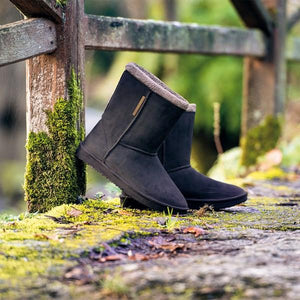 BLACKFOX | Cheyenne Adult Waterproof Fur Lined Outdoor Gumboot - Black ***Limited Stock***