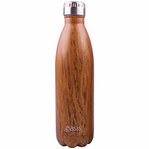Oasis  |  Stainless Insulated Drink Bottle 750ml - Teak