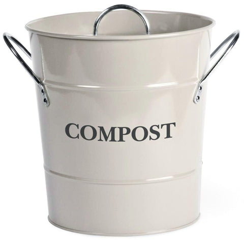 HEAVEN IN EARTH | Metal Compost Bucket - Chalk