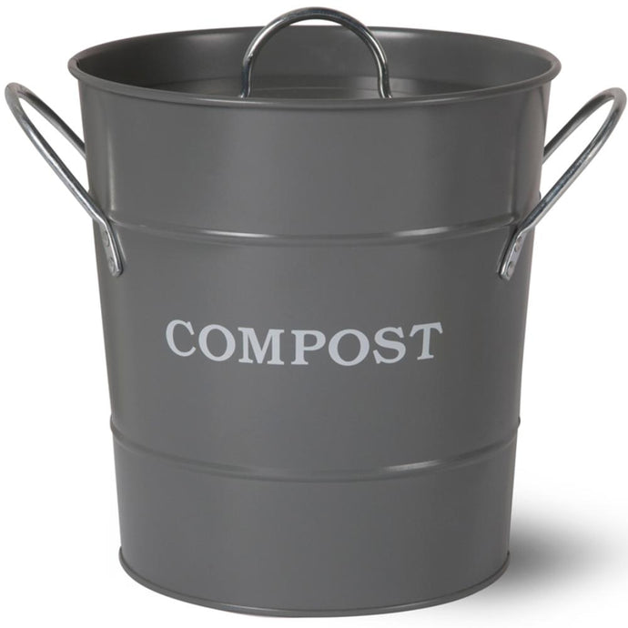 HEAVEN IN EARTH | Metal Compost Bucket - Charcoal