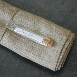 HEAVEN IN EARTH | Glass Tubes Label Holder - French Vintage Style