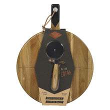 Load image into Gallery viewer, GENTLEMENS HARDWARE  Pizza Cutter & Serving Board