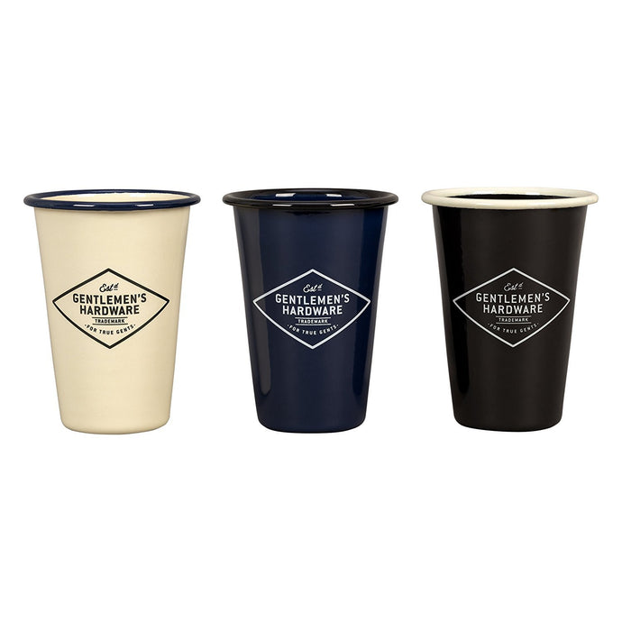 GENTLEMEN'S HARDWARE | Enamel Tumblers 400ml (set of 3) Back