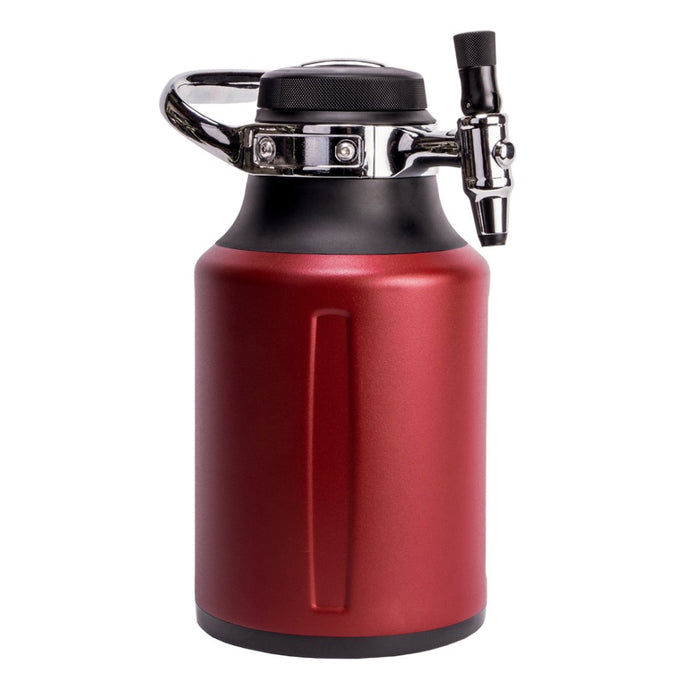 GROWLERWERKS | UKEG GO 64 Carbonated Insulated Growler - Chilli Red