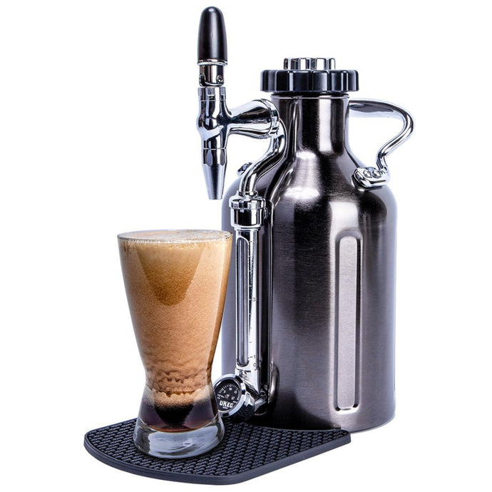 GROWLERWERKS | uKeg 50oz Nitro Cold Brew Coffee Maker Keg, Black Chrome
