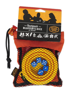 INSIDE OUTSIDE | Backpack Bluffer's Dice - Orange & Blue