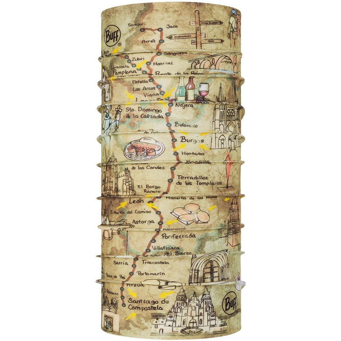 BUFF® | Coolnet UV+ Multifunction Tubular Neckwear Camino de Santiago - Geo Topics Multi