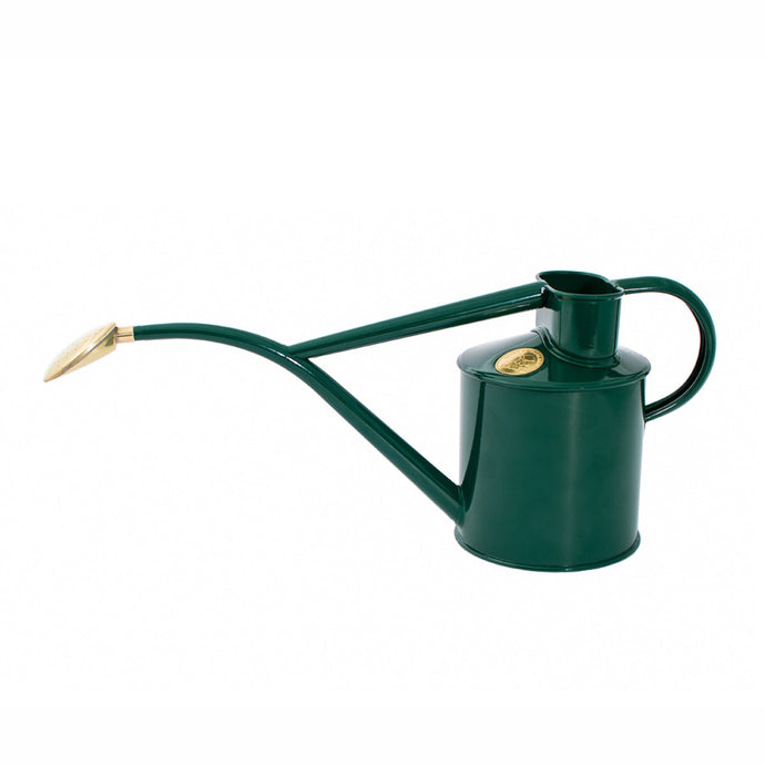 HAWS Gift Boxed Metal Indoor Plant Watering Can 'The Rowley Ripple' 2 Pint (1 Litre) - Green
