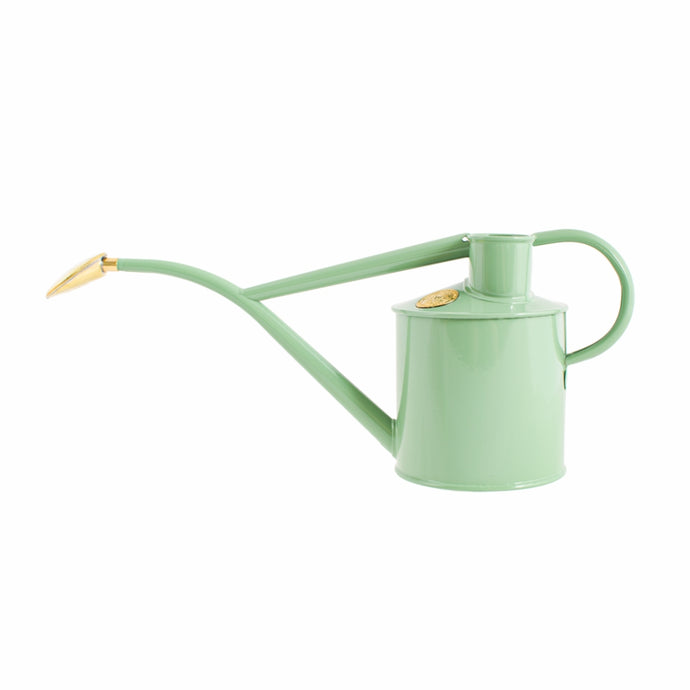 HAWS Gift Boxed Metal Indoor Plant Watering Can 'The Rowley Ripple' 2 Pint (1 Litre) - Sage