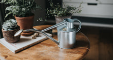 Load image into Gallery viewer, HAWS Gift Boxed Metal Indoor Plant Watering Can 'The Rowley Ripple' 2 Pint (1 Litre) - Titanium
