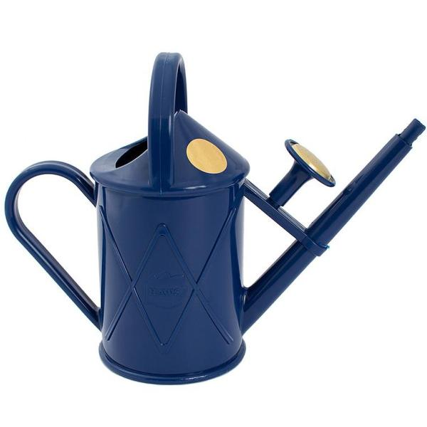 HAWS | 1 Litre Heritage Plastic Plant Watering Can - Navy Blue