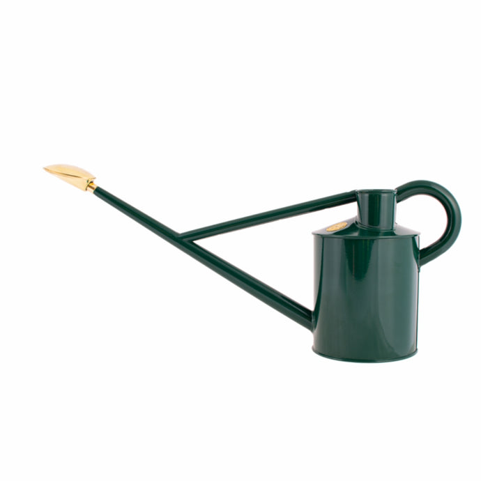 HAWS 'The Warley Fall Green'  Metal Original Long Reach Watering Can - One Gallon (4.5L)