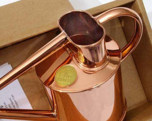 Haws | Metal Indoor Watering Can in Gift Box 1 Litre - Copper TOP VIEW