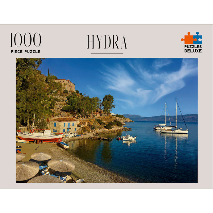 PUZZLES DELUXE 1000 Piece Jigsaw Puzzle - Hydra, Greece