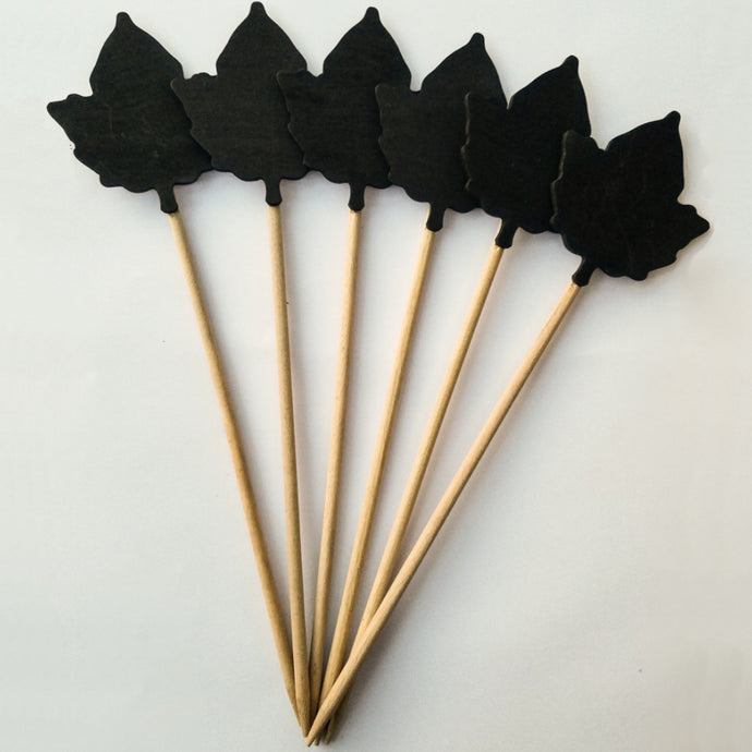 IVORY HOUSE  |  Blackboard Stakes - Leaf pack of 6