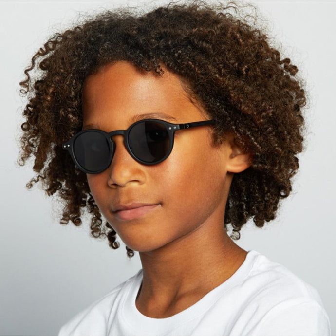 IZIPIZI PARIS | Sun Junior Kids STYLE #D Sunglasses - Black (3-10 YEARS)