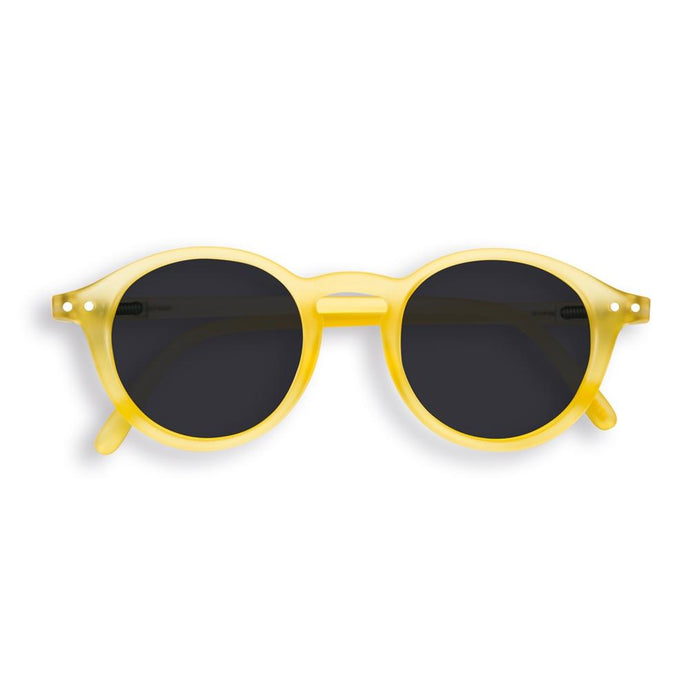 IZIPIZI PARIS | Sun Junior - STYLE #D Sunglasses - Yellow Chrome (3-10 YEARS) *FLASH LIGHTS LIMITED EDITION*