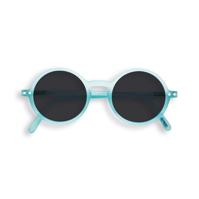IZIPIZI PARIS | Sun Junior - STYLE #G Sunglasses - Light Azure (3-10 YEARS) *FLASH LIGHTS LIMITED EDITION*
