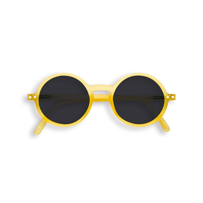 IZIPIZI PARIS | Sun Junior - STYLE #G Sunglasses - Yellow Chrome (3-10 YEARS) *FLASH LIGHTS LIMITED EDITION*