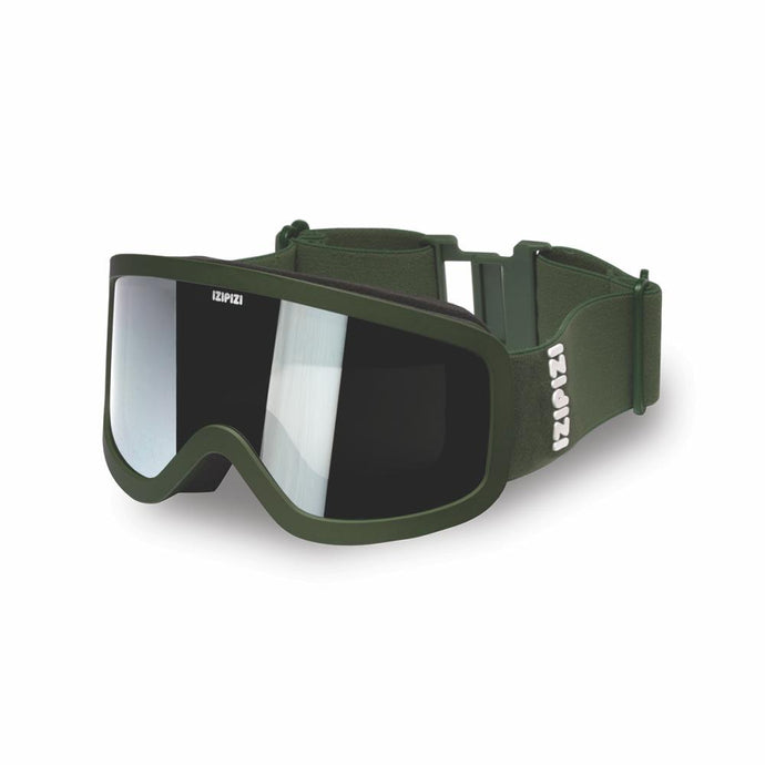 IZIPIZI PARIS | Junior Kids Snow Goggles - SMALL - Khaki Green