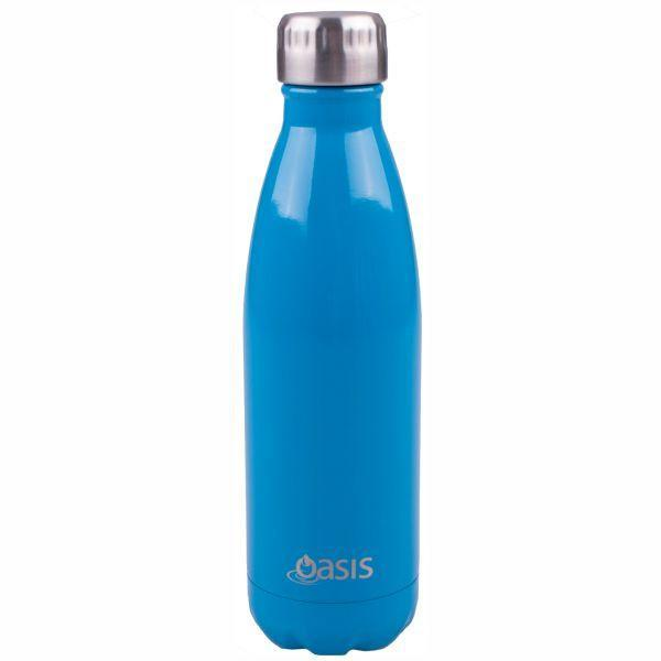 OASIS Drink Bottle 750ml Stainless Insulated - Fluro Blue