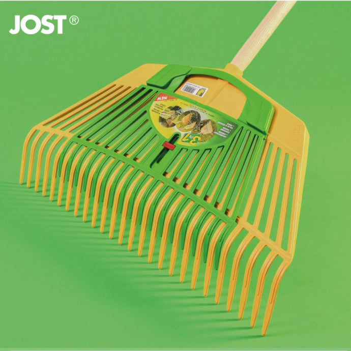 FRANZ JOST | Combi Rake 600mm  + Leaf Gripper - Yellow & Green