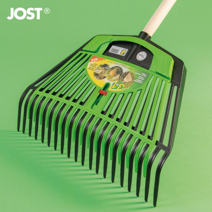 FRANZ JOST | Combi Rake 450mm  + Leaf Gripper - Black & Green