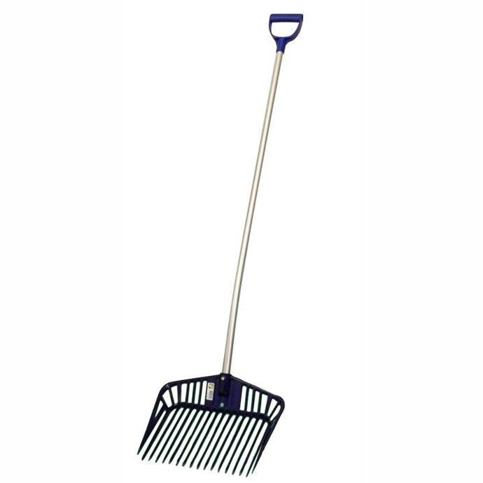 FRANZ JOST Stable Rake / Manure Scoop - Ergonomic Aluminium Handle