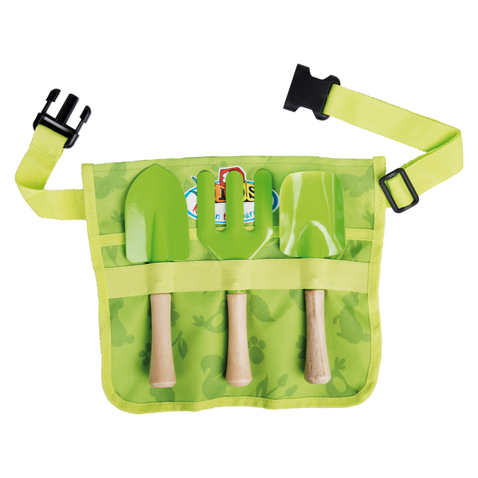 ESSCHERT DESIGN Children's Toolbelt with Tools - Woodland Green