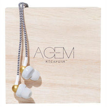 Load image into Gallery viewer, KREAFUNK | Agem Earphones - White Displayed