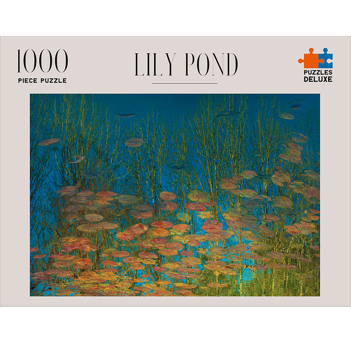 PUZZLES DELUXE 1000 Piece Jigsaw Puzzle - Lily Pond, France