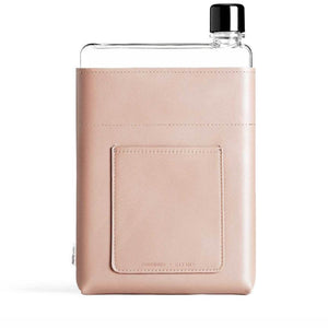 MEMOBOTTLE | Leather Water Bottle Sleeve A5 - Nude