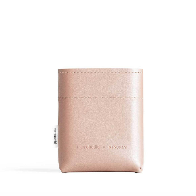 MEMOBOTTLE | Leather Water Bottle Sleeve A7 - Nude
