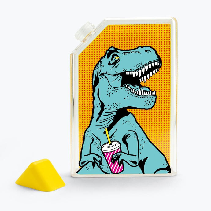 MUSTARD. | T-Rex Flat Water Bottle