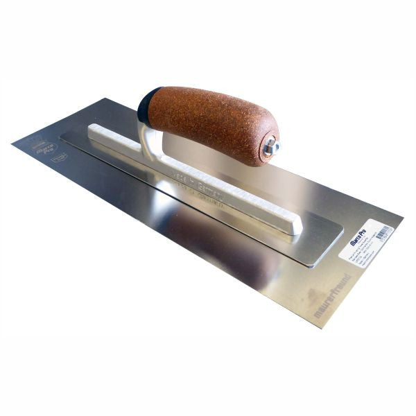 MARCO PRO | German Premium Finishing Trowel Superflex Stainless - Cork Handle