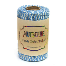 Load image into Gallery viewer, NUTSCENE® SCOTLAND  |  CandyTwist Twine® 100m Spool - Baby Blue & White