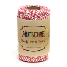 Load image into Gallery viewer, NUTSCENE® SCOTLAND  |  CandyTwist Twine® 100m Spool - Pink & White