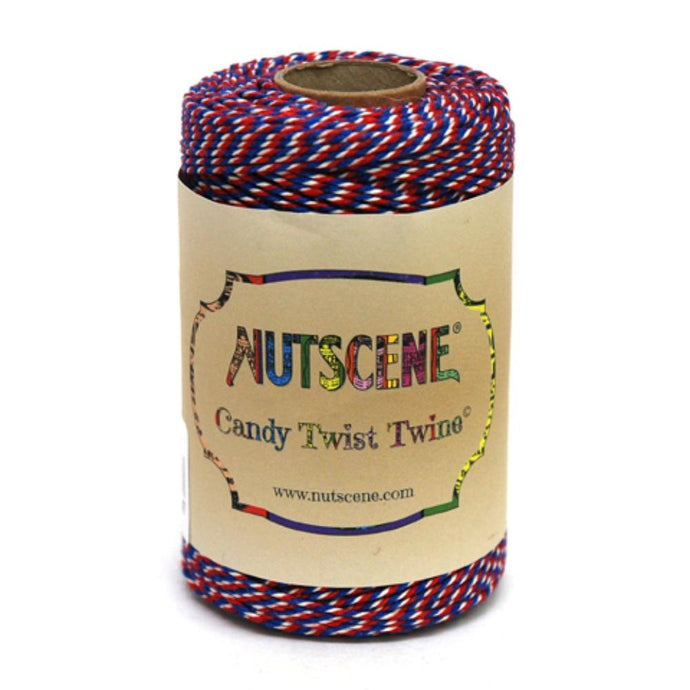 NUTSCENE® SCOTLAND  |  CandyTwist Twine® 100m Spool - Red, White & Blue