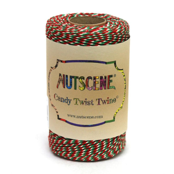 NUTSCENE® SCOTLAND  |  CandyTwist Twine® 100m Spool - Red, White & Green