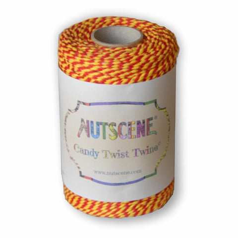 NUTSCENE® SCOTLAND  |  CandyTwist Twine® 100m Spool - Red & Yellow