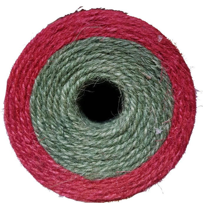 NUTSCENE® SCOTLAND  |  Twine Roll Dual Colour Spool - Red/British Racing Green