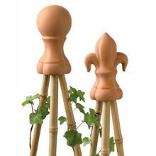 Load image into Gallery viewer, NUTSCENE® SCOTLAND  |  Terracotta Cane Topper / Stake Finial - Small Fleur de Lys